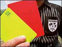arbitro (cartellino rosso)